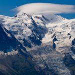 Nuages lenticulaires sur le Mont Blanc