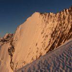 Lever du soleil sur la face NE de la Lenzspitze