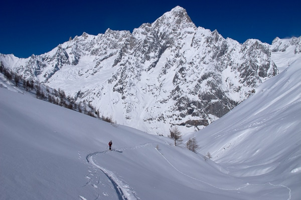 Descente vers le Val Ferret