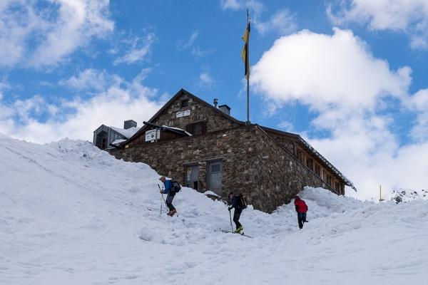 Arrivée à Winnebachsee Hütte