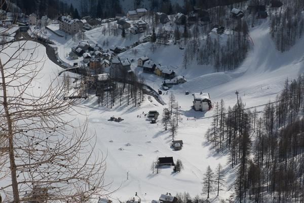 Vue plongeante sur Alpe Devero