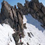La traversée vers le sommet principal