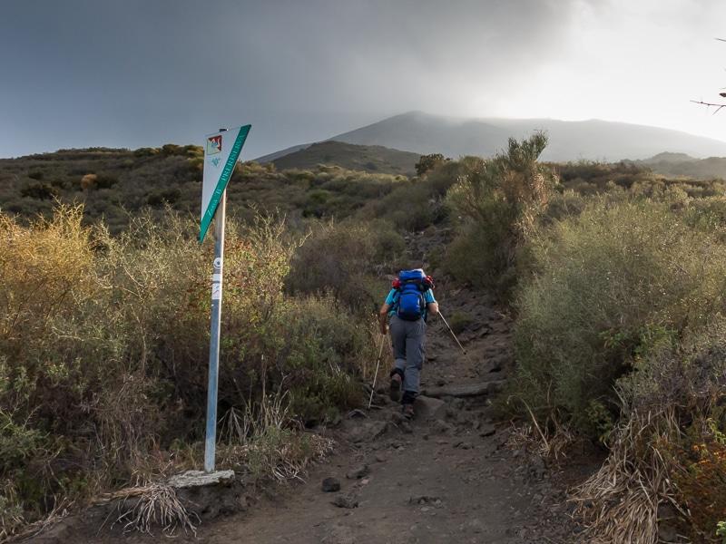 Stromboli / Montée vers la crête du volcan