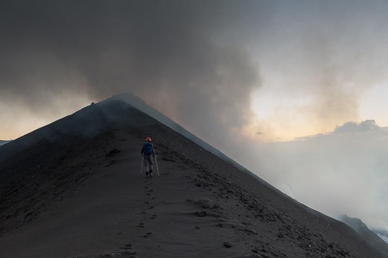 Stromboli / Sur les crêtes sur volcan