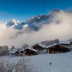 Aiguilles de Chamonix et piste des Houches