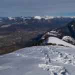 Vue du sommet de Surcou : la vallée de l'Arve