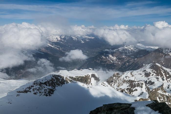 La vue depuis le sommet du Piz d'Err