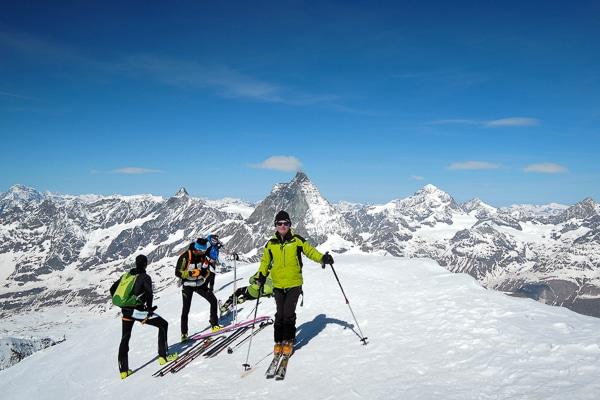 Jean-François au sommet du Breithorn
