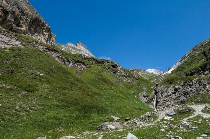 Dernier aperçu de l'Aiguille de la Vanoise avant de revenir au