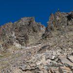 La cheminée qui donne accès au sommet du Canigou
