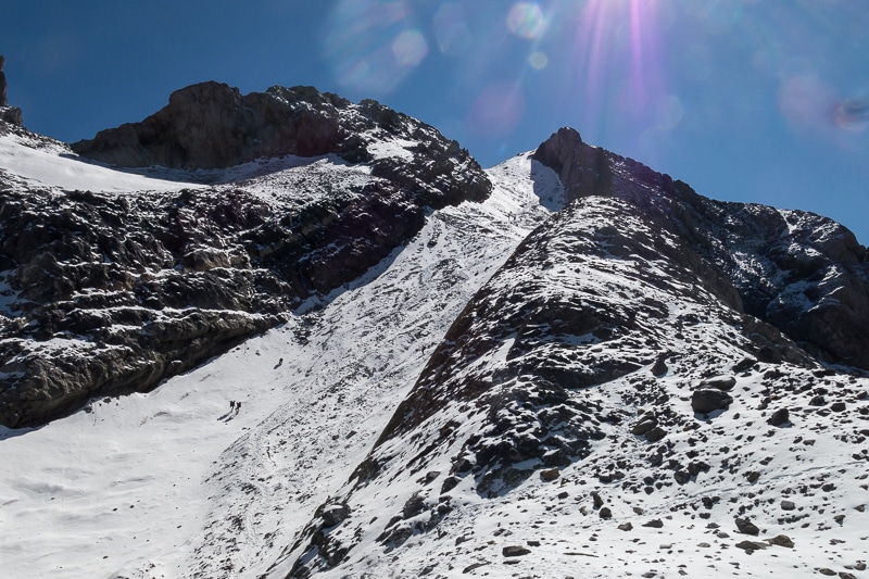 Le couloir final du Monte Perdido