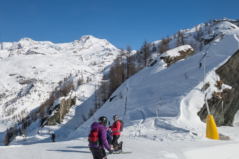 Jour 3 : Les pistes de Gressoney au face au Mont Rose