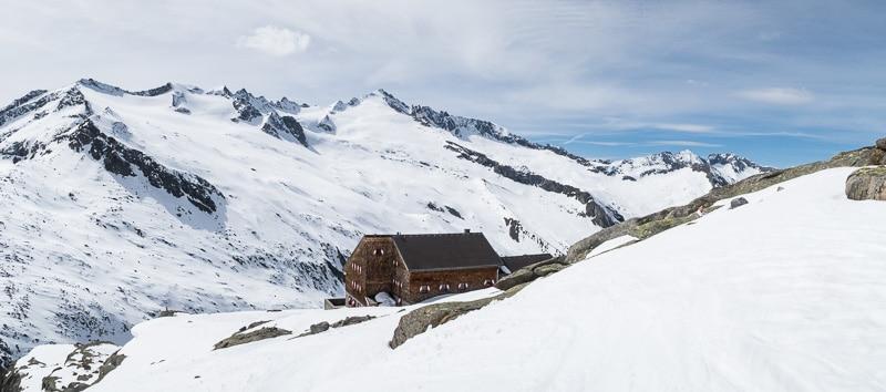 Arrivée à Kürsingerhütte