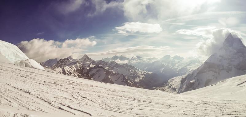 Arrivée à Zermatt avec les premiers nuages