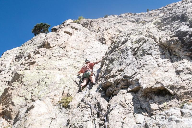 Escalade à la barre de la Lèche (Saint-Martin-Vésubie)