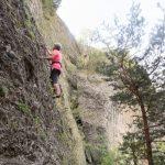 Escalade sur poudingue à Mont-Dauphin