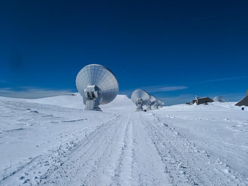 Les antennes du Plateau de Bure