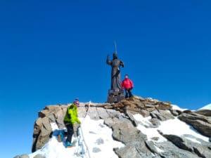 Statue du Christ au sommet du Balmenhorn