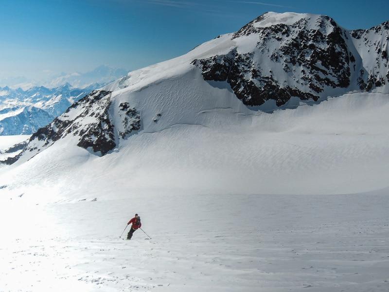 Ski vers le col du Lys