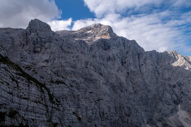 Impressionnante face nord du Triglav