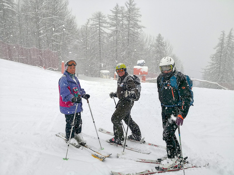 Ski sous la neige à Serre Chevalier